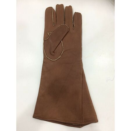 img-WW2 RAF Leather Flying Gloves Gauntlets Crows Foot Stamped &Type D. SINGLE GLOVE