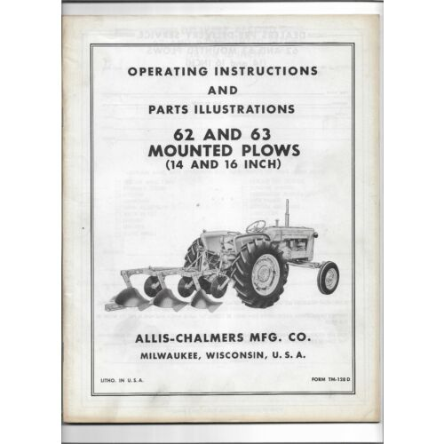 allis-chalmers-62-63-mounted-plows-14-16-operators-manual-parts-illustrations