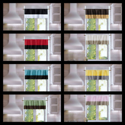 1PC STRAIGHT PATCHWORK SEMISHEER WINDOW CURTAIN  VALANCE 37'' WIDE X24'' LONG ANY