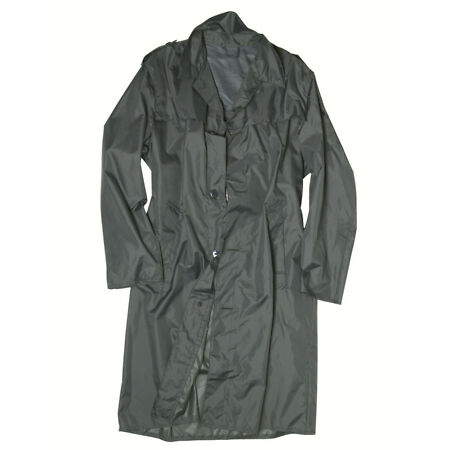 img-Swiss Army Raincoat Genuine Issue Full Lenght Officers Rain Coat Grade 1 Used