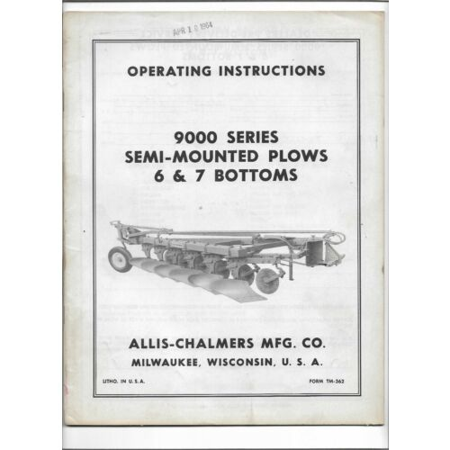 oem-allis-chalmers-9000-series-6-7-bottom-semi-mounted-plows-operators-manual