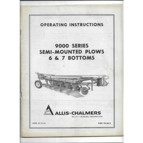 allis-chalmers-9000-series-6-7-bottom-semi-mounted-plows-operators-manual-tm362b