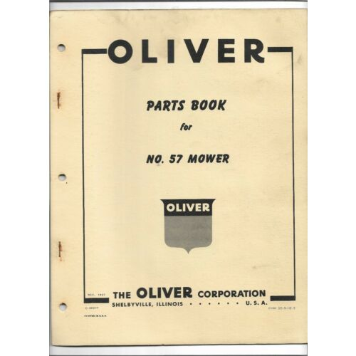 original-oe-oem-oliver-number-57-mower-parts-book-catalog-c4021y-dated-1957