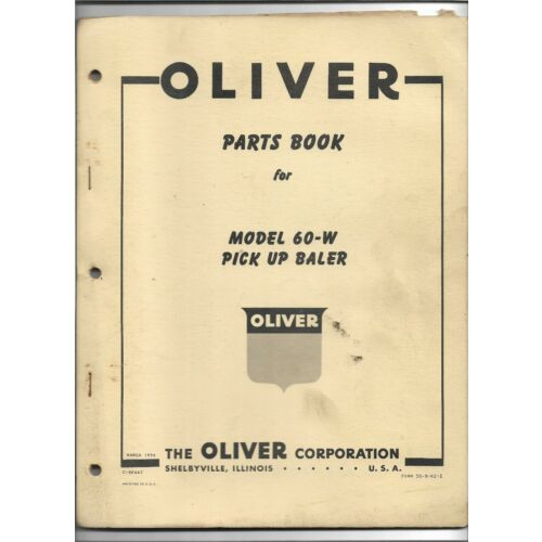 original-oe-oem-1958-oliver-model-60w-pick-up-baler-parts-book-catalog-c5044z