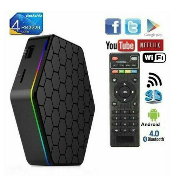 T95Z PLUS Android 9.0 TV Box CPU 8 CORE 4GB RAM 64GB ROM Q5 6k KODI