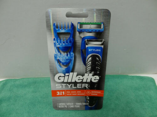 New Gillette Styler 3-in-1 Trim Shave Edge Waterproof Men's Razor 1 Cartridge