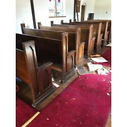 """Kyпить 20 Available Price Separate Antique Oak Gothic Church Pews 8'2"""" Or shorter на еВаy.соm"""