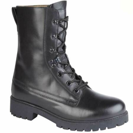 img-Combat Assault Boot Black Leather British Army Style Combat Cadet boot ~ New