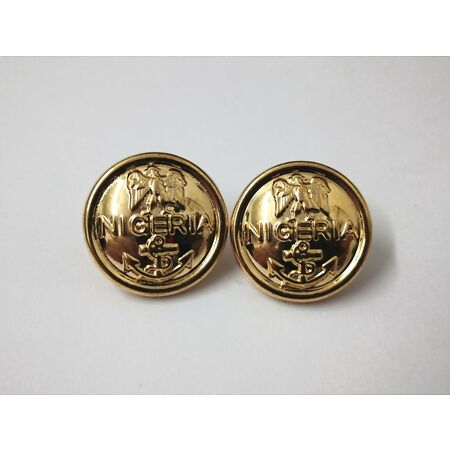 img-Genuine Nigerian Navy Issue Eagle and Anchor Insignia Ring Back Buttons X2 V0348