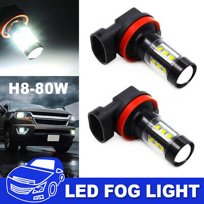 H11 LED Fog Light 80W Conversion H8 H9 Bulb Car Driving Lamp DRL 6000K HID White