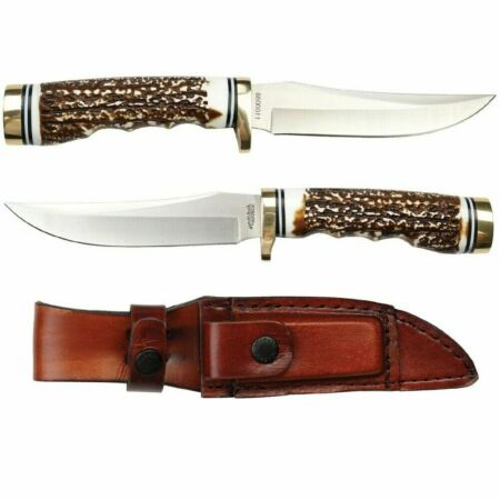 img-Couteau Schrade Uncle Henry Bowie Acier 7Cr17MoV Manche Delrin Etui SCH1100086