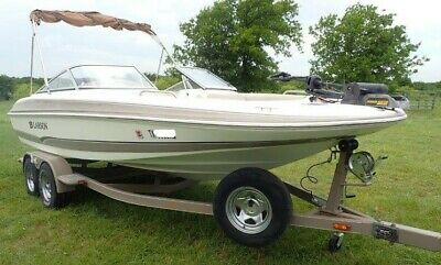2006 Larson Escape 204 Deck Boat Brown Ivory Includes Trailer Fishing Skiing