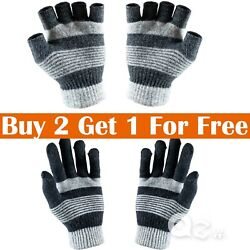 Kyпить Mens Womens Winter Warm Knit Wool Insulated Fleece Magic Gloves Mitten New на еВаy.соm