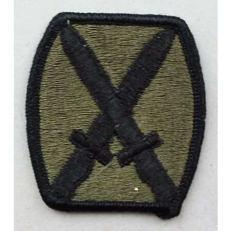 img-US ARMY PATCH 10th Infantry Division BDU Battle Uniform Badge United States USA