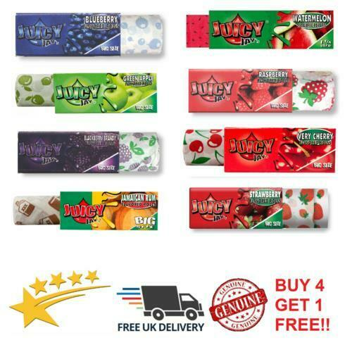 JUICY JAYS RIPS BIG SIZE Rolls Smoking Rolling Papers Fruity Premium Flavours
