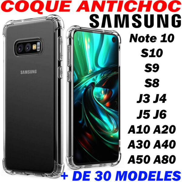 Etui Housse Coque Samsung Galaxy Protection Ultra Fine AntiChoc HD Transparent
