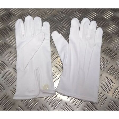 img-Genuine Military Issue 3 Dart White Cotton Parade Ceremonial Gloves NEW