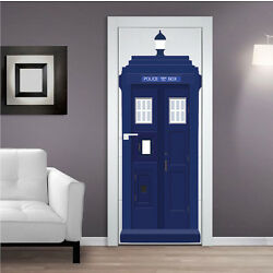 Dr Who Tardis Wall Decal Sticker Room Wallpaper Tardis Door Decal Cling, s71