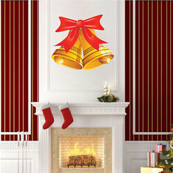 Christmas Bells Wall Decal Winter Decor Clings Christmas Party Decorations, h53