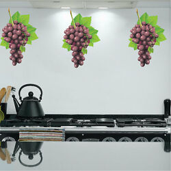 Grapes Wall Decal Mural Vineyard Vinyl Art Removable Decals Food Fine Wine, d27