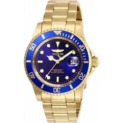 Kyпить Invicta Pro Diver Blue Dial Mens Blue Dial Gold-Tone Stainless Steel Watch 26974 на еВаy.соm