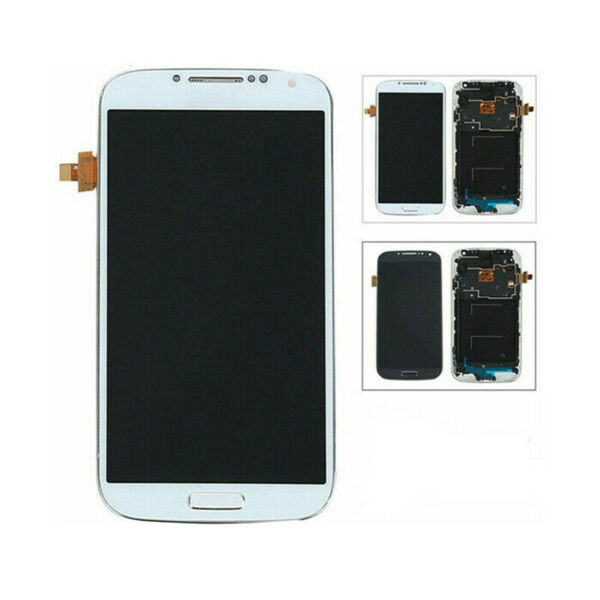 LCD Display Touch Schermo Digitizer + Cornice Per Samsung Galaxy S4 i9500 i9505