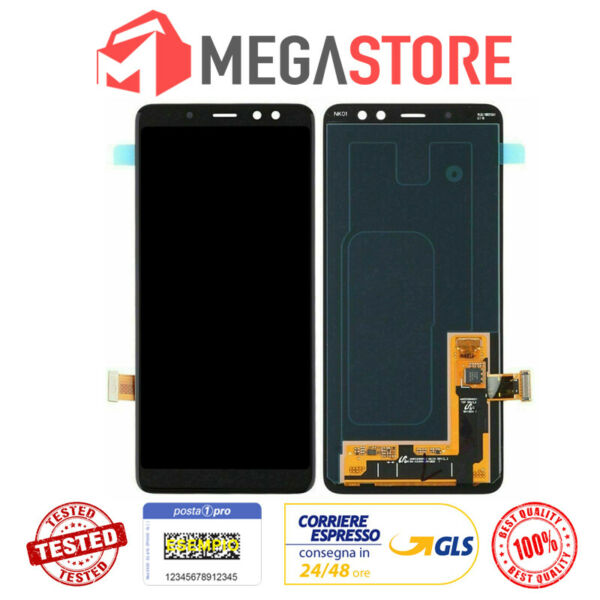 DISPLAY LCD+TOUCH SCREEN SCHERMO SAMSUNG GALAXY A8 2018 SM-A530F VETRO NUOVO