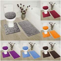 Kyпить  ROCK DESIGN 3PC BATHROOM SET SOFT COMFORT MEMORY FOAM BATH RUGS SOLID COLOR на еВаy.соm
