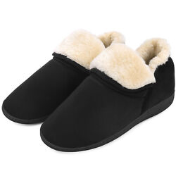 Kyпить Men's Faux Fur Memory Foam Slippers Fuzzy Comfortable House Shoes Anti-Skid на еВаy.соm