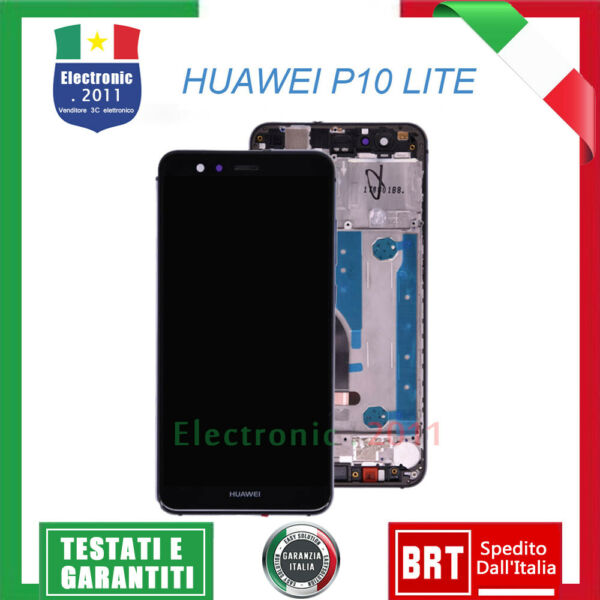 LCD Per Huawei P10 Lite Display Touch Screen WAS-LX1 LX1A Vetro Schermo + Telaio