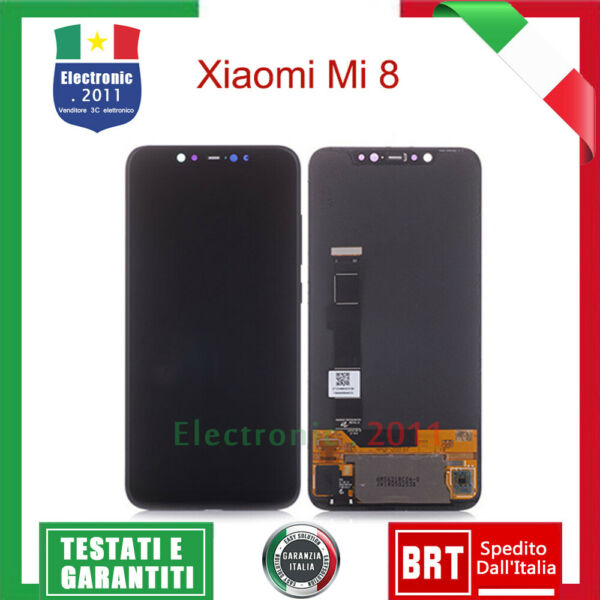 DISPLAY LCD TOUCH SCREEN AMOLED ORIGINALE XIAOMI Mi8 Mi-8 VETRO OLED M1803E1A