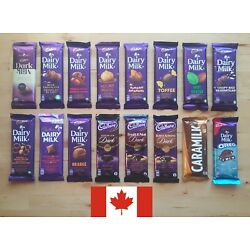 Cadbury Dairy Milk Assortment 85g - 100g (Choose five bars from the selection)