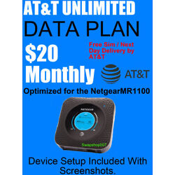 Kyпить AT&T UNLIMITED DATA 4G LTE Account ATT $20 monthly на еВаy.соm