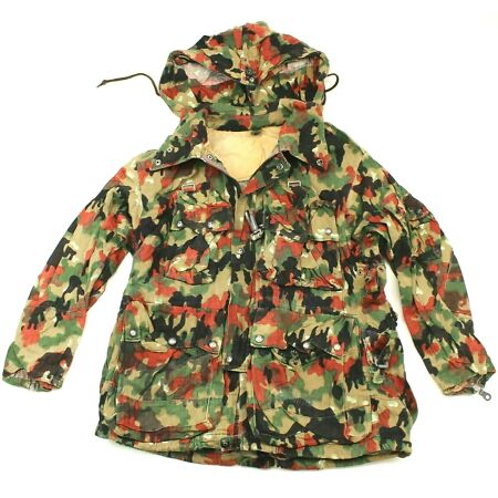 img-GENUINE SWISS ARMY COMBAT JACKET in 1960's LEIBERMUSTER / ALPENFLAGE CAMO