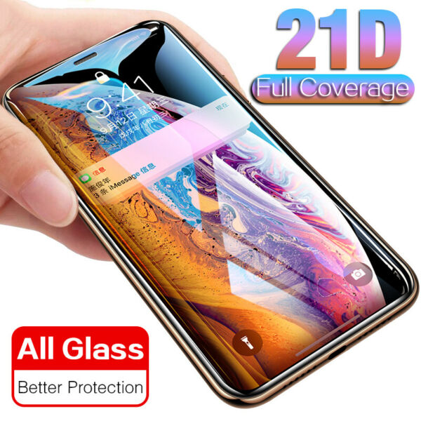 21D Full Coverage d'écran Protecteur Verre Film Pr iPhone 11 Pro Max XR XS 6 7 8