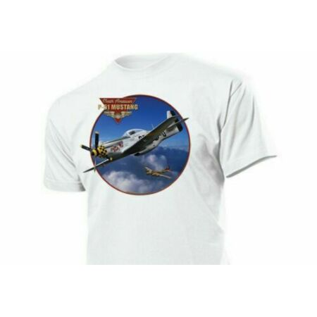 img-T-Shirt US Army P-51 Mustang Air Force Pilots Airplane Bomber Rockabilly Vintage