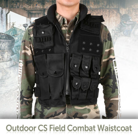 img-Tactical Vest. Airsoft /Paintball Vest / Molle Combat Assault Vest E7N9