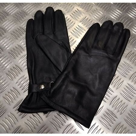 img-Genuine NATO Military Issue General Service Black Lined Leather Gloves Size 12