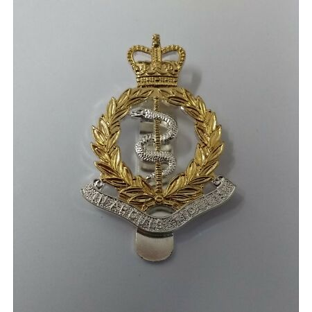 img-Genuine British Army RAMC Royal Army Medical Corps Issue Dress Hat Badge - NEW