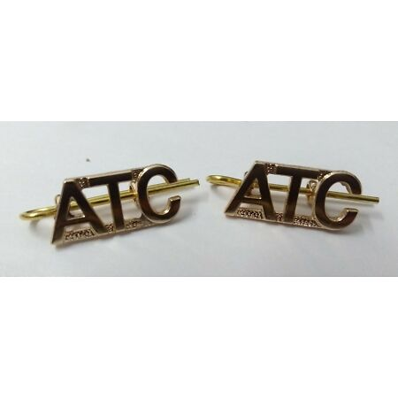 img-Genuine British Air Force RAF ATC Air Training Corps Shoulder Title Badges - NEW