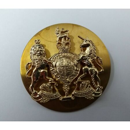 img-Genuine British Royal Marines RM Issue Coat of Arms WO1 Wrist Strap Badge - NEW