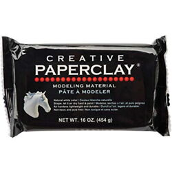 CREATIVE PAPERCLAY WHITE- 16 OZ.(NIP) (FREE SHIPPING) (CRAFTS, MOLDING)