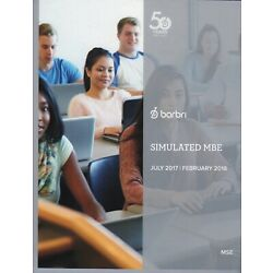2017--2018--NEW--BARBRI MULTISTATE SIMULATED MBE-CAN USE FOR UBE