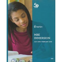2018-2019 -- BRAND NEW BARBRI IMMERSION BOOKLET MBE (CAN USE FOR UBE)