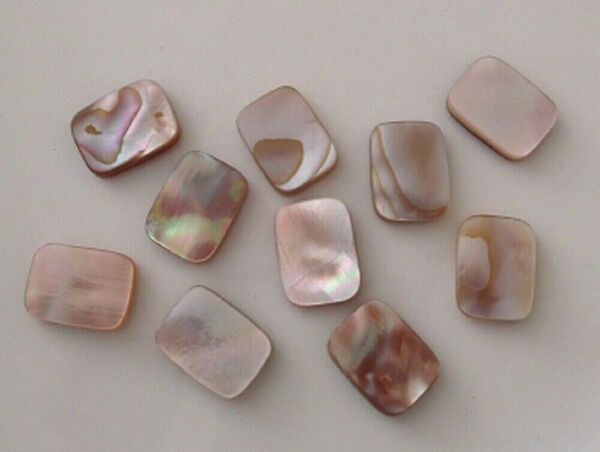 10 Mother of pearl rectangle beads