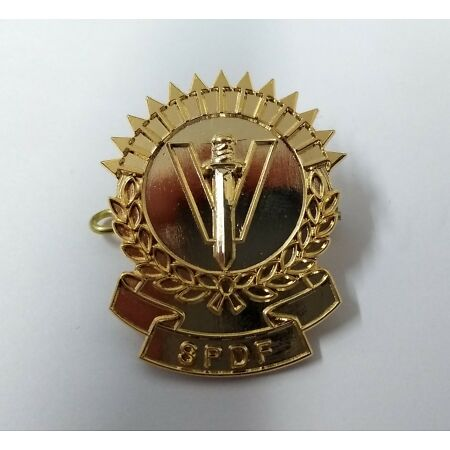 img-Genuine Seychelles Issue SPDF Insignia Hat / Cap Badge NEW Peoples Defence Force