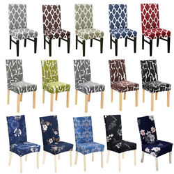 Kyпить 1/4/6x Printed Dining Room Chair Covers Spandex Stretch Seat Slipcover Protector на еВаy.соm