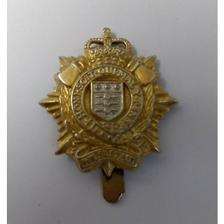 img-Genuine British Army Issue Royal Logistic Corps Other Ranks Dress Hat Badge RLC