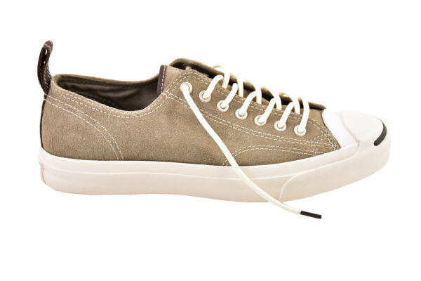 Converse Jack Purcell LTT Ox Leather Charcoal Umber Size UK 9