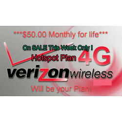 Kyпить Verizon Unlimited  Hotspot Data Plan - $55/$50 Monthly - no credit check на еВаy.соm